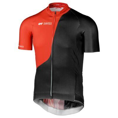 Országúti mez DT Swiss fekete-piros 2022 XL